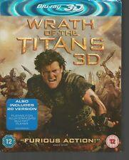 WRATH OF THE TITANS - 3D & 2D - UK 3D BLU-RAY - Sam Worthington