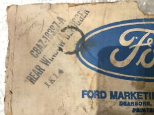 NOS 1968 1969 1970 Ford Mustang Mercury Torino Rear Window Defogger #C8AZ-1839-A