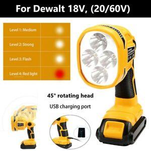 For DeWalt DCL040 18v XR Li-ion 45° rotating Pivot LED Work Light Body Only UK