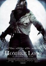 POSTER THE WOLF MAN L'UOMO LUPO BENICIO DEL TORO BIG #2