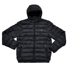 Polo Ralph Lauren Mens Packable Puffer Down Jacket Coat Black Medium