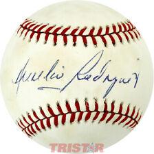 AURELIO RODRIGUEZ SIGNED AUTOGRAPHED AL BASEBALL PSA - NEW YORK METS COACH