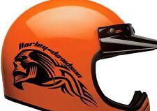 Harley-Davidson Helmet Stickers. Set of 2 High Quality Motor Tank Decals.