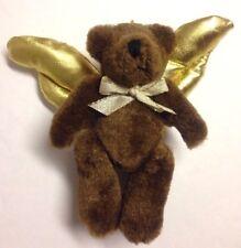 "6 x QVC Jointed Angel Teddy Bear Plush Christmas Tree Hanging Ornaments 4 3/4"""