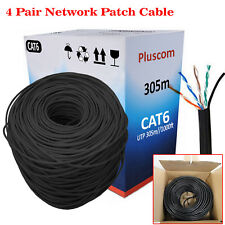 305M RJ45 CAT6 Outdoor Ethernet Network 4 Pair UTP Patch Cable Roll Reel LAN NEW