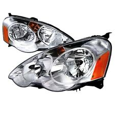 02-04 Acura RSX DC5 DC JDM Chrome Headlights w/ Amber Reflector Type S Base K20