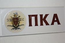 50-pack of Pi Kappa Alpha Sticker of Letters & Crest for Outside Glass, Car