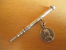 ancien sceau à cacheter chatelaine système porte mine retractable argent XIX ème