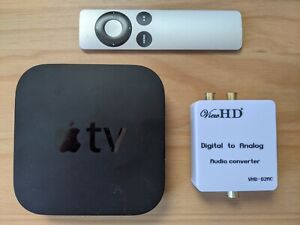 Apple TV (3rd Generation) with S/PDIF Cable + FREE Optical to Stereo converter