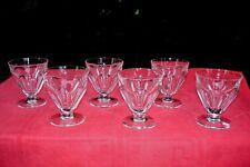 BACCARAT TALLEYRAND 6 WINE CRYSTAL GLASSES VERRE A VIN CRISTAL TAILLÉ ART DECO H