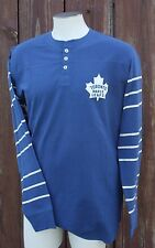 Toronto Maple Leafs long sleeve Henley shirt CCM Vintage throwback MEN's large