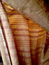 Vintage Fabric Sale Designer Gold Textured Taffetta Quality Curtain Fabric 5 Mtr