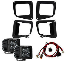 RIGID LED Fog Light Kit w/ Midnight Black PRO LED Lights for 14-17 Toyota Tundra