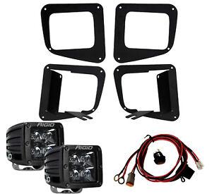 RIGID LED Fog Light Kit w/ Midnight Black PRO LED Lights for 14-19 Toyota Tundra