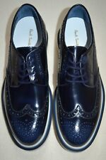 """Paul Smith """"CRISPIN"""" Navy High Shine Leather Brogues UK 8 US 9 New"""