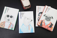 """Fashion Dog"" Hard Cover A5 Notebook Sketchbook Diary Journal Note Pad Book Memo"