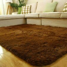 Shaggy Fluffy Rugs Anti-Skid Area Rug Dining Room Carpet Bedroom Floor Mat MT