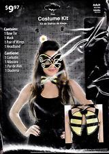 Women's Adult Halloween Bee Costume Kit - 4 Piece - Brand New