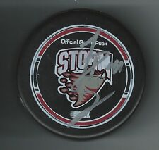 Todd Bertzzi Signed Guelph Storm Puck Detroit Red Wings