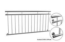 Französischer Balkon LYON Edelstahl 184x90cm Geländer Stabgeländer Gebürstet NEU