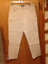 Bill Blass jeans size 10 P stretch beige waist 32 inseam 27 1/2 ladies