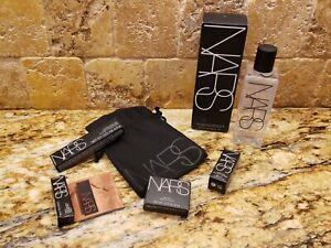NARS~5PC Beauty Set with Black Gift Bag~Lipstick,Eyeliner, Blush,Bronzer&Cleaner