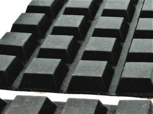 """3/4"""" Square Rubber Feet. 5/16"""" Height with 3M Adhesive Backing. Black"""