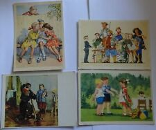 4 postcards of the USSR Children.1950s-1960s.