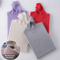 SweaterWomen's Slim Knitted Turtleneck Cashmere Jumper Pullover Elasticity cozy