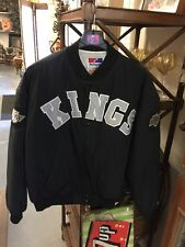 VINTAGE LA Kings Los Angeles NHL Hockey  Supplex Swingster  SATIN  JACKET XL