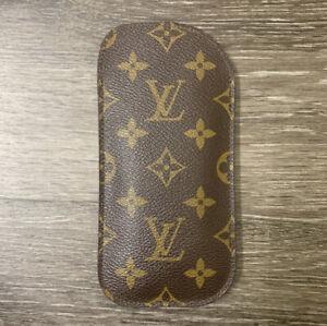 Vintage Louis Vuitton Lunettes Simple Monogram Eyeglass Case Pouch AUTHENTIC