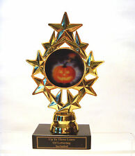 HALLOWEEN TROPHY PUMPKIN  CARVING COSTUME PARTY STAR INSERT HOLDER TRICK TREAT
