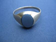 Ring LAGENSTEIN ACHAT blau Gold 333 alt antik 1880 vintage klassisch rar selten