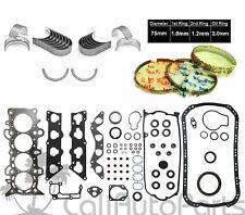 01-05 Honda Civic EX HX D17A2 1.7 SOHC *GRAPHITE FULL SET RINGS ENGINE BEARINGS