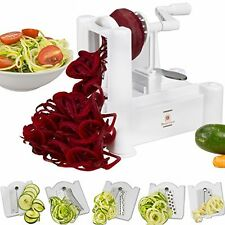 Brieftons 5-Blade Spiralizer: Strongest-and-Heaviest Duty Vegetable Spiral Best