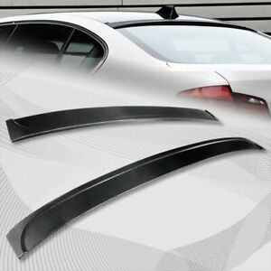 For 2011-2016 BMW F10/F18 5-Series M5 Real Carbon Fiber Rear Roof Spoiler Wing