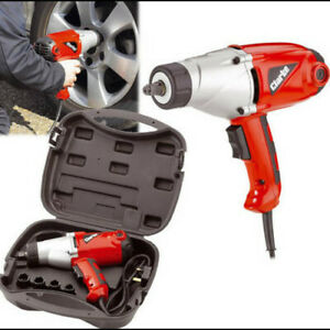 """CLARKE 1000W ELECTRIC 240V 1/2"""" DR IMPACT WRENCH IN CASE & SOCKETS CEW1000"""
