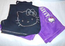 Hello Kitty by Sanrio Ladies Plush Fleece & Jersey Bling Studs Pajama Set M NWT
