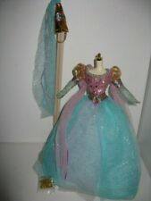 Rapunzel Barbie Outfit - Princess Costume - Ball Gown, Hat & Shoes