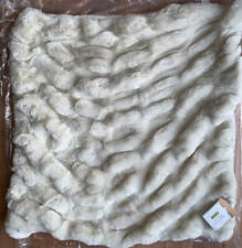 """New~Pottery Barn~Faux Fur Ruched Pillow Cover~Ivory~ 26"""""""