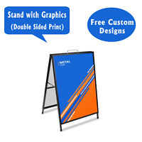 A-frame Sidewalk Sign Truckload Sale With Graphics On Each Side