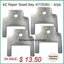 Kimberly Clark #770301 - Paper Towel & Toilet Tissue Dispenser Key - (4/pk.)