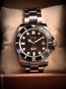 Custom Seiko MM300 Submariner NH35a Sapphire Ceramic Automatic Dive Watch.