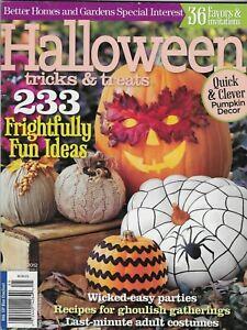 Halloween Tricks and Treats Magazine Pumpkins Easy Outdoor Decor Costumes 2012