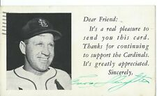 Enos Slaughter St Louise Cardinals Rppc 1953 Interesting Message to addressee