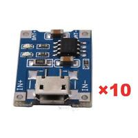 10Pcs 5V Mini USB 1A TP4056 Lithium Battery Charging Board Power Charger Module