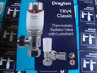 Drayton TRV4 Classic Thermostatic Radiator Valve With LockShield TRV Pack.BNIB.