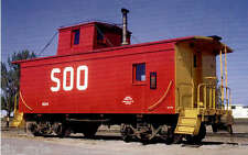 Soo Line Caboose #224 railroad train postcard