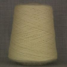 LAMBSWOOL MOHAIR DOUBLE KNITTING YARN 500g CONE ECRU NATURAL UNDYED DK LAMB WOOL