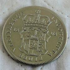GEORGE III 1808 GREAT BRITAIN NICKEL SILVER PROOF PATTERN SHIELD CROWN - coa